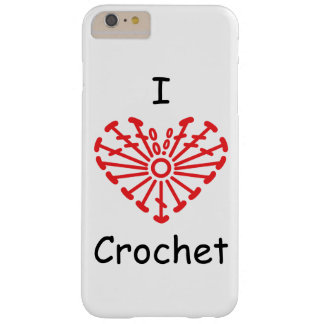 I Heart Crochet -Heart Crochet Chart Pattern Barely There iPhone 6 Plus Case