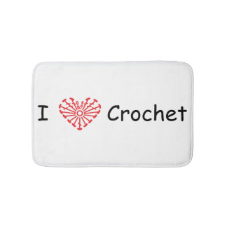 I Heart Crochet -Heart Crochet Chart Pattern Bath Mat