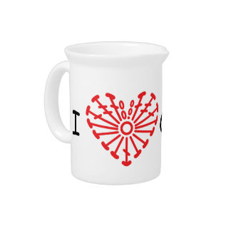 I Heart Crochet -Heart Crochet Chart Pattern Beverage Pitchers
