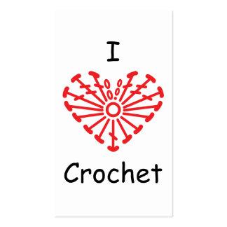 I Heart Crochet -Heart Crochet Chart Pattern Business Card