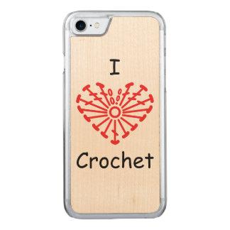 I Heart Crochet -Heart Crochet Chart Pattern Carved iPhone 7 Case