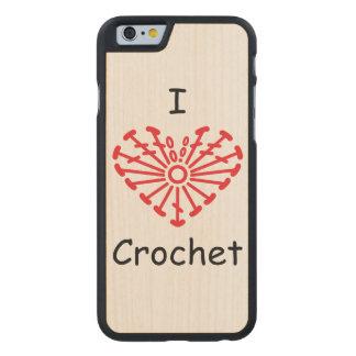 I Heart Crochet -Heart Crochet Chart Pattern Carved® Maple iPhone 6 Slim Case
