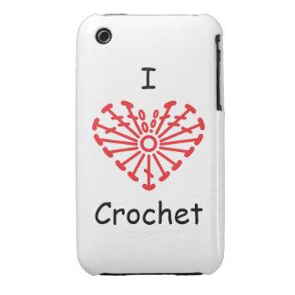 I Heart Crochet -Heart Crochet Chart Pattern Case-Mate iPhone 3 Case