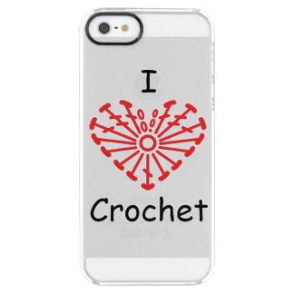 I Heart Crochet -Heart Crochet Chart Pattern Clear iPhone SE/5/5s Case
