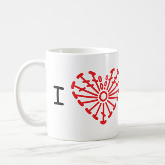 I Heart Crochet -Heart Crochet Chart Pattern Coffee Mug
