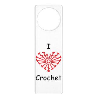 I Heart Crochet -Heart Crochet Chart Pattern Door Hanger