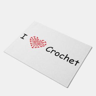I Heart Crochet -Heart Crochet Chart Pattern Doormat