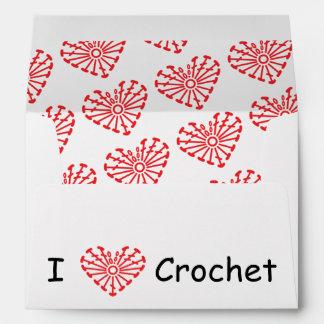 I Heart Crochet -Heart Crochet Chart Pattern Envelope