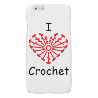 I Heart Crochet -Heart Crochet Chart Pattern Glossy iPhone 6 Case
