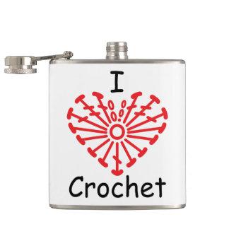 I Heart Crochet -Heart Crochet Chart Pattern Hip Flask