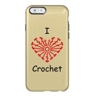I Heart Crochet -Heart Crochet Chart Pattern Incipio Feather® Shine iPhone 6 Case