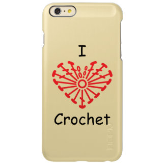 I Heart Crochet -Heart Crochet Chart Pattern Incipio Feather® Shine iPhone 6 Plus Case