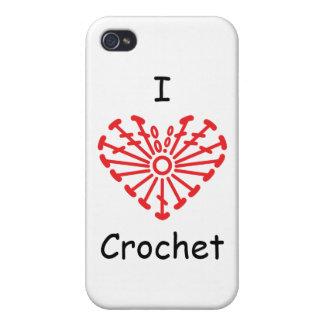 I Heart Crochet -Heart Crochet Chart Pattern iPhone 4/4S Cases