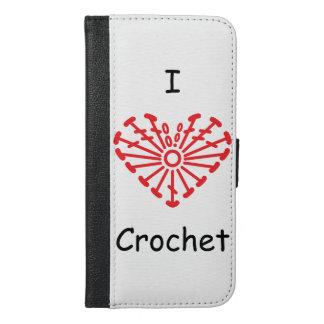 I Heart Crochet -Heart Crochet Chart Pattern iPhone 6/6s Plus Wallet Case