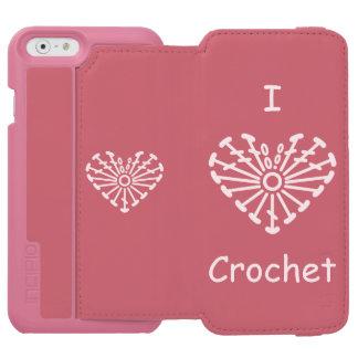 I Heart Crochet -Heart Crochet Chart Pattern iPhone 6/6s Wallet Case