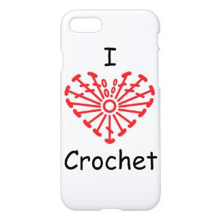 I Heart Crochet -Heart Crochet Chart Pattern iPhone 7 Case