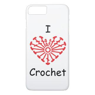 I Heart Crochet -Heart Crochet Chart Pattern iPhone 7 Plus Case