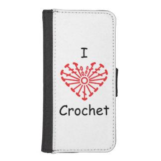 I Heart Crochet -Heart Crochet Chart Pattern iPhone SE/5/5s Wallet
