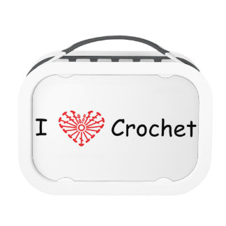 I Heart Crochet -Heart Crochet Chart Pattern Lunch Box