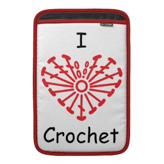 I Heart Crochet -Heart Crochet Chart Pattern MacBook Sleeve