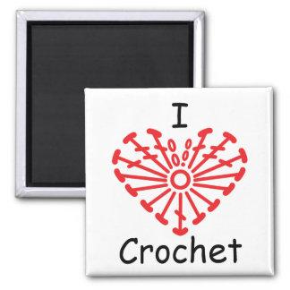 I Heart Crochet -Heart Crochet Chart Pattern Magnet