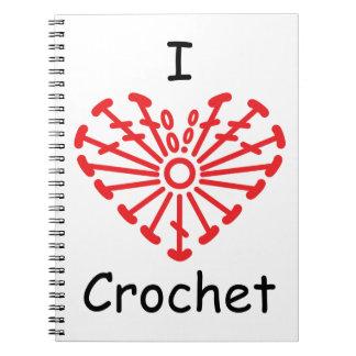 I Heart Crochet -Heart Crochet Chart Pattern Notebook