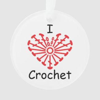 I Heart Crochet -Heart Crochet Chart Pattern Ornament