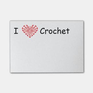 I Heart Crochet -Heart Crochet Chart Pattern Post-it® Notes