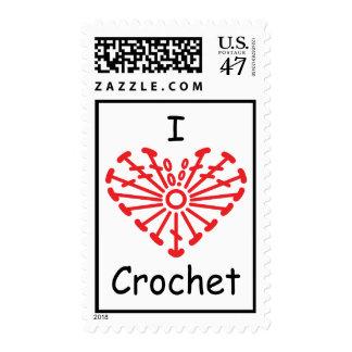 I Heart Crochet -Heart Crochet Chart Pattern Postage