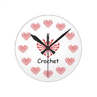 I Heart Crochet -Heart Crochet Chart Pattern Round Clock
