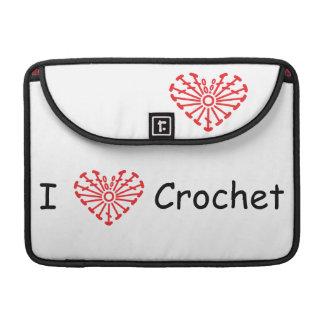 I Heart Crochet -Heart Crochet Chart Pattern Sleeves For MacBook Pro
