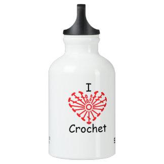 I Heart Crochet -Heart Crochet Chart Pattern Water Bottle