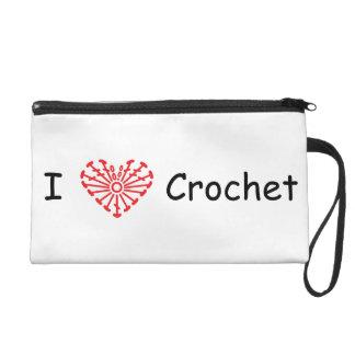 I Heart Crochet -Heart Crochet Chart Pattern Wristlet