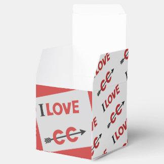 I Heart Cross Country Favor Box - CC Runner Symbol