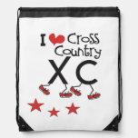 I heart Cross Country Running XC Cinch Bag