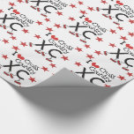 I heart Cross Country Running XC Wrapping Paper