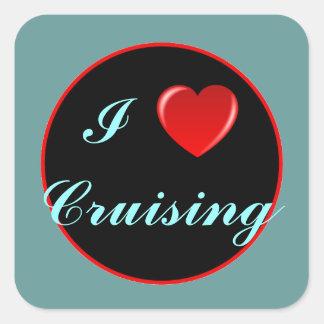 I Heart Cruising Square Sticker