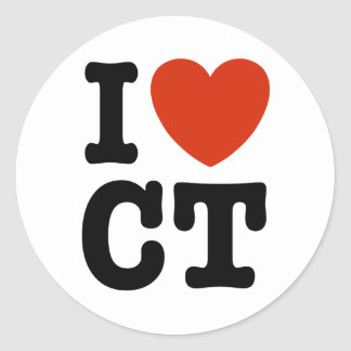 I Heart CT Classic Round Sticker