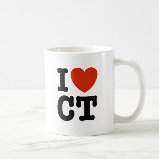 I Heart CT Classic White Coffee Mug