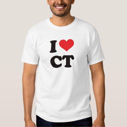I Heart Ct Connecticut T Shirt Zazzle