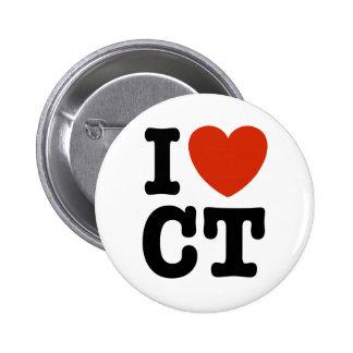 I Heart CT Pinback Button