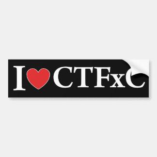 I Heart CTFxC Car Bumper Sticker