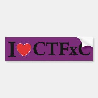 I Heart CTFxC Bumper Sticker (Purple) Car Bumper Sticker
