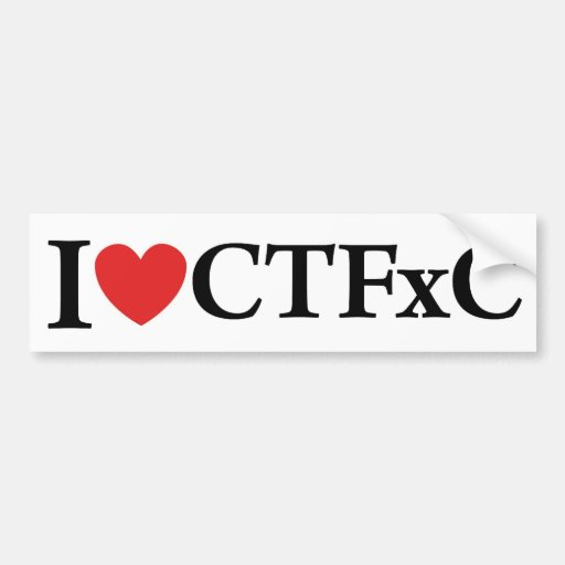 I Heart CTFxC Bumper Sticker (White)