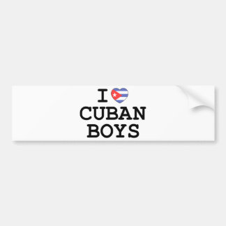 I Heart Cuban Boys Bumper Sticker