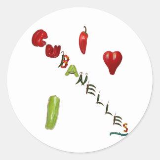 I Heart Cubanelles Classic Round Sticker