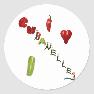 I Heart Cubanelles Classic Round Sticker