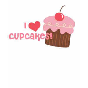 i heart cupcake Tshirt shirt