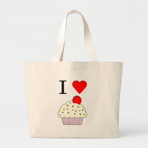 I heart Cupcakes Canvas Bags