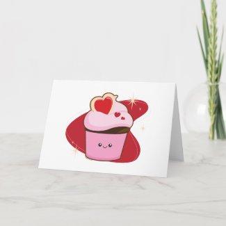 I Heart Cupcakes card